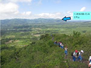 上蒜山から三平山方向