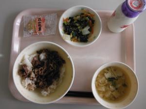 真庭食材の給食