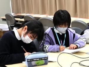 小串小学校とのオンライン交流